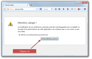 about config attention danger firefox