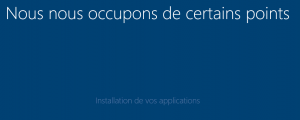 installation de vos applications