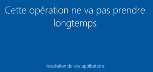 installation des applications