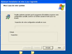 on patiente longtemps souvent parce que les PC sur XP ne sont pas forcéments les plus récents