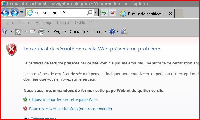 probleme internet explorer a rencontre un probleme