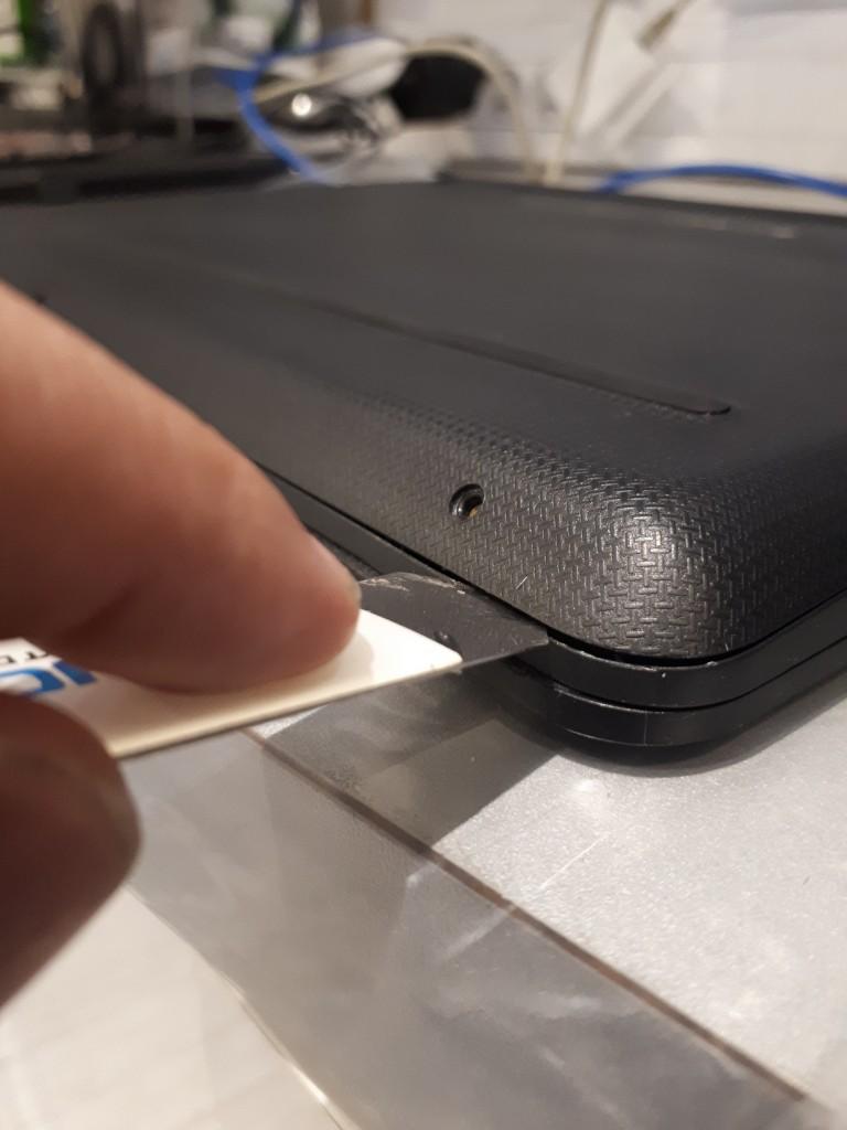 Etape 4 ouverture coque portable HP
